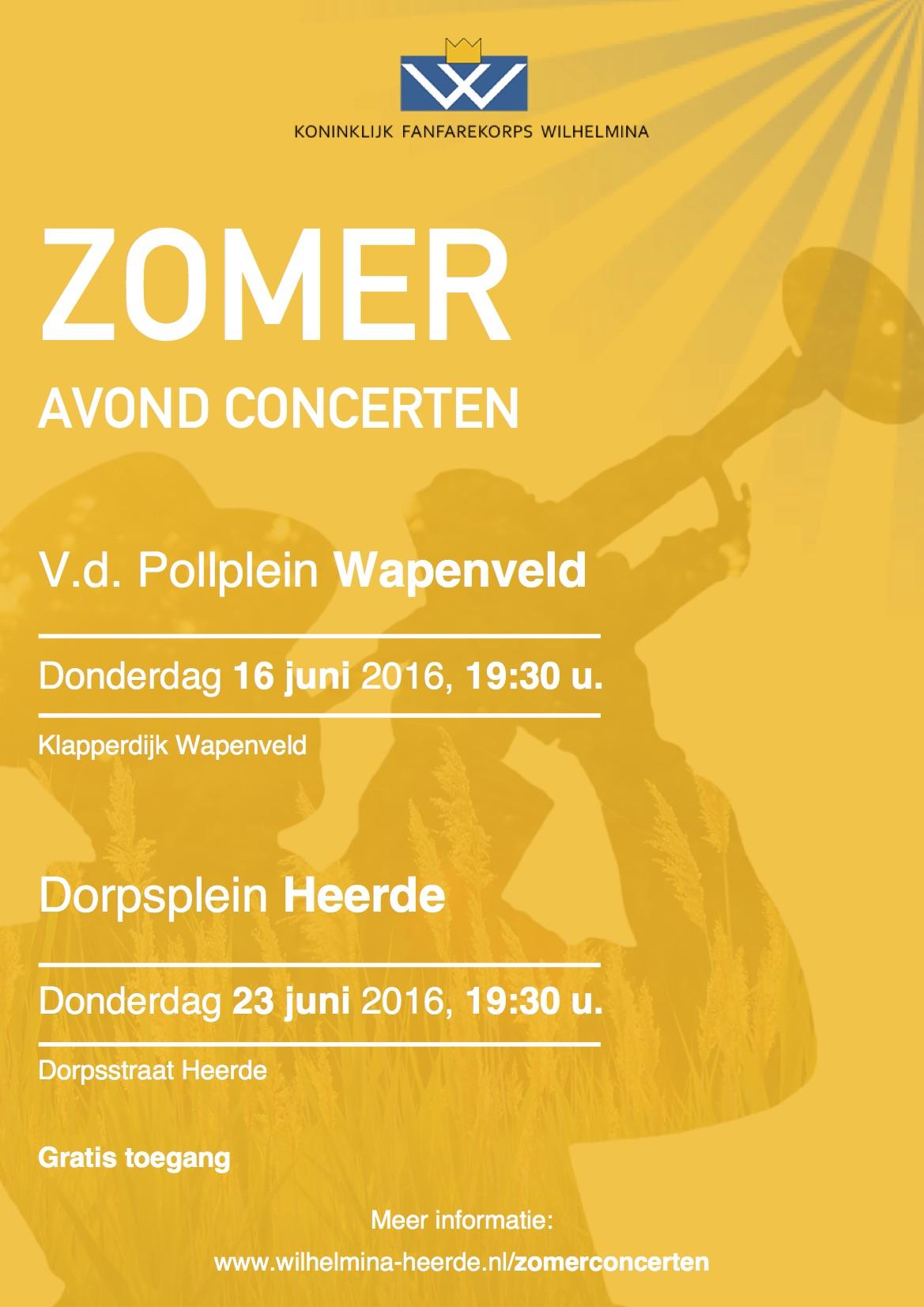 Zomeravond concerten Heerde 2016